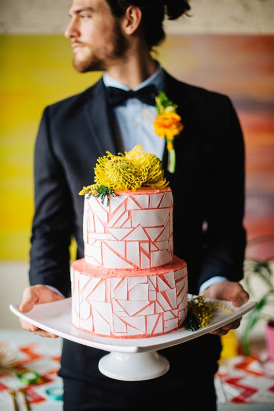 Modern And Vibrant Watercolor Wedding Inspiration