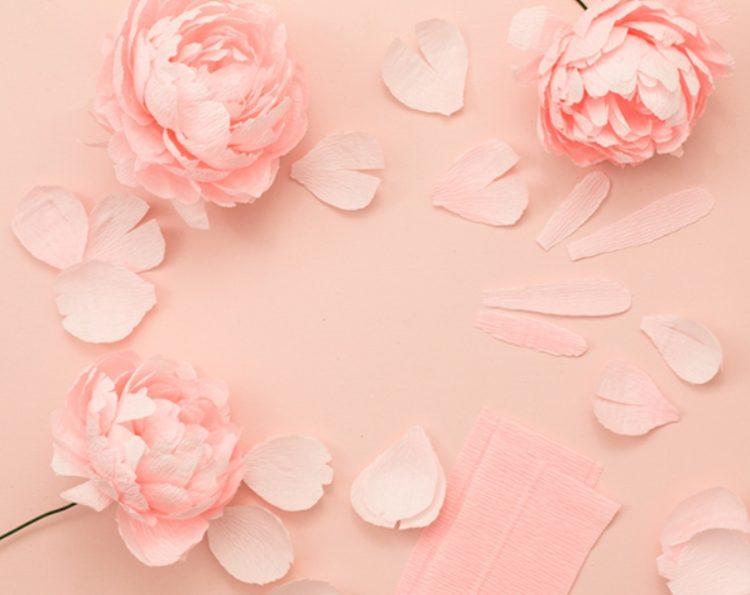 Pink DIY Paper Peony Wedding Bouquet
