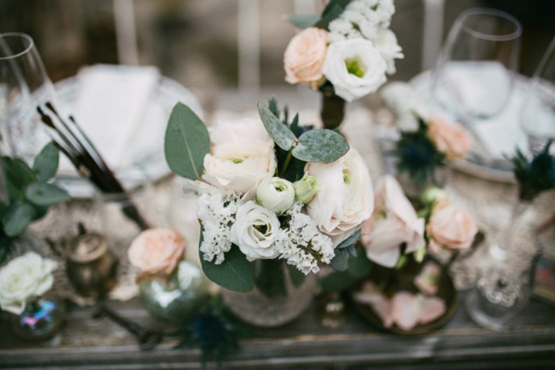 Picture Of romantic and artistic impressionism themed wedding shoot  17