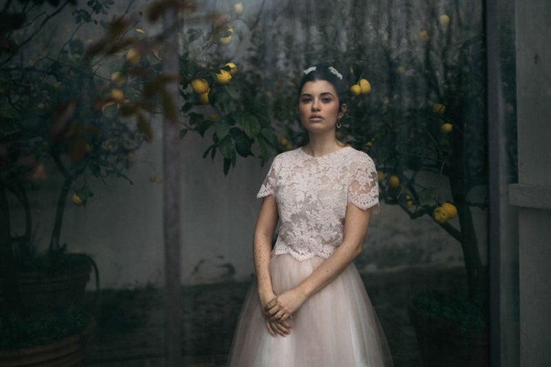 Picture Of romantic and artistic impressionism themed wedding shoot  2
