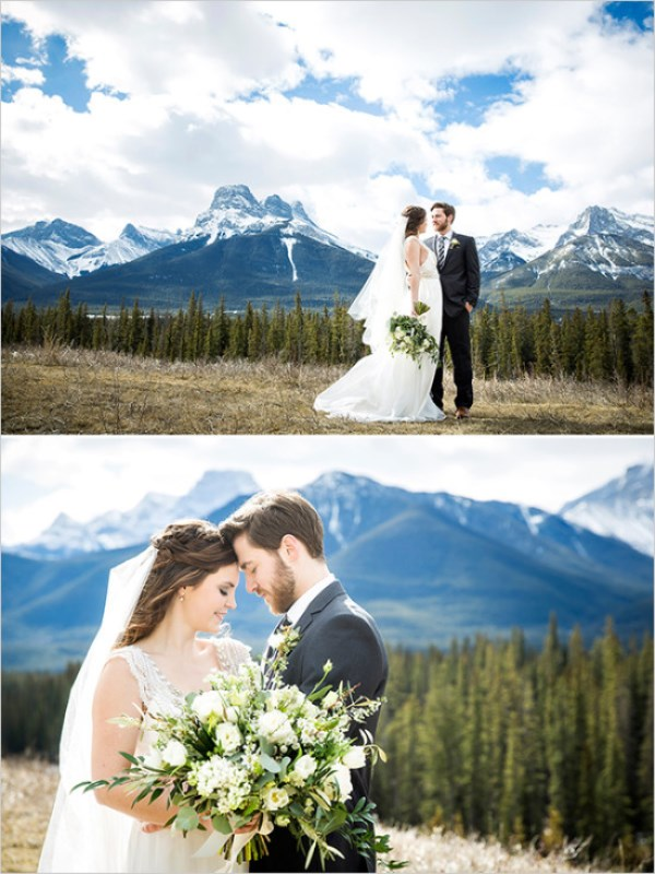 Rustic Organic Wedding Shoot In The Canadian Rockies