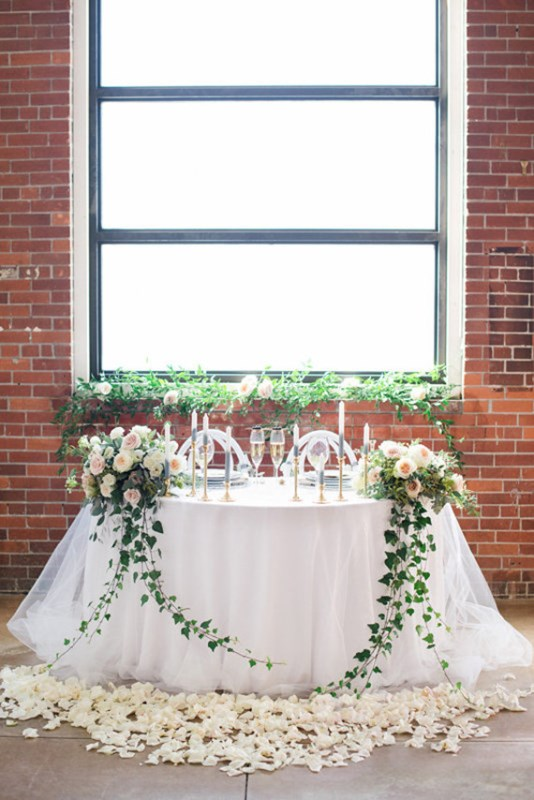 Elegant White Wedding Shoot At An Industrial Space