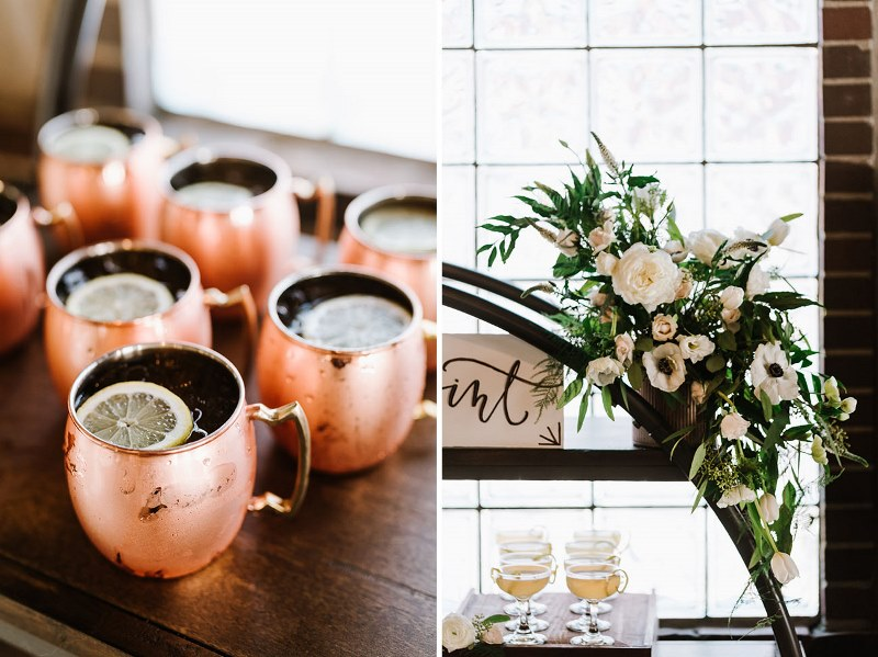 Picture Of vintage industrial rehearsal dinner copper details  10