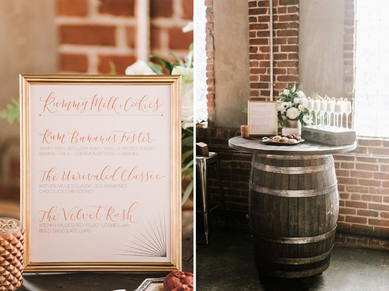 Picture Of vintage industrial rehearsal dinner copper details  15