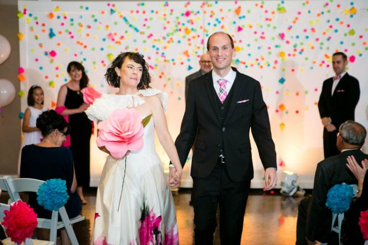 Fally DIY colorful science themed wedding
