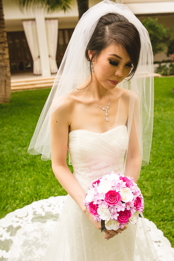 the bridal look was stunningly romantic and classic