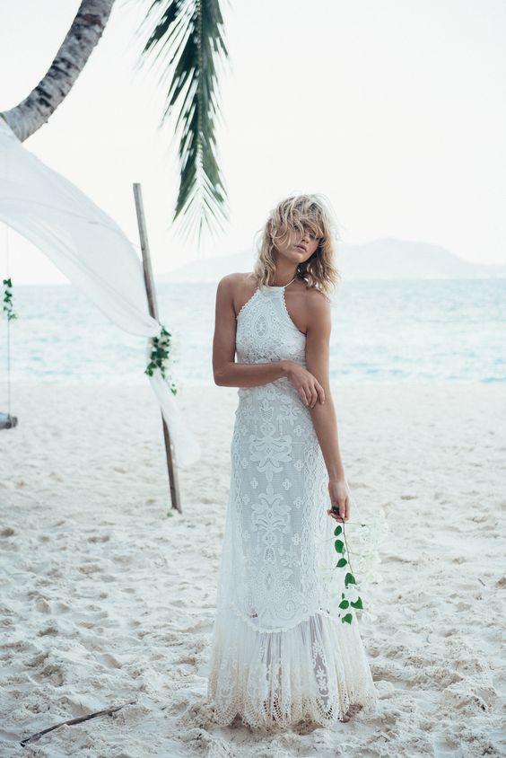 halter neckline boho dress
