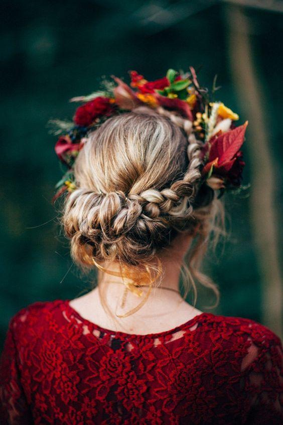 bold fall wedding crown