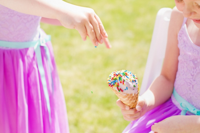 sprinkles are another wedding shoot touch that reminds of ice cream