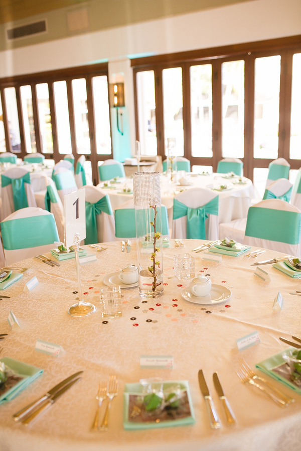 the wedding color palette was refreshed with mint