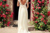 14 open back flowy dress
