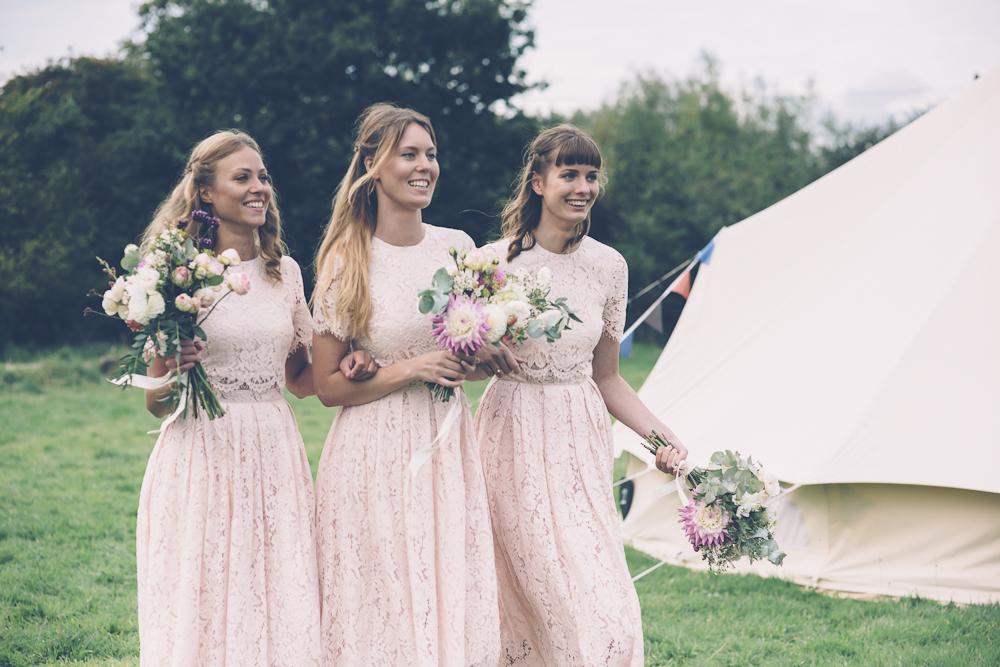 blush lace gowns