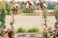16 fall wedding arch with flower decor