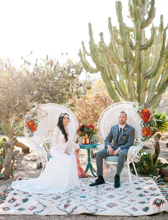 boho desert wedding decor