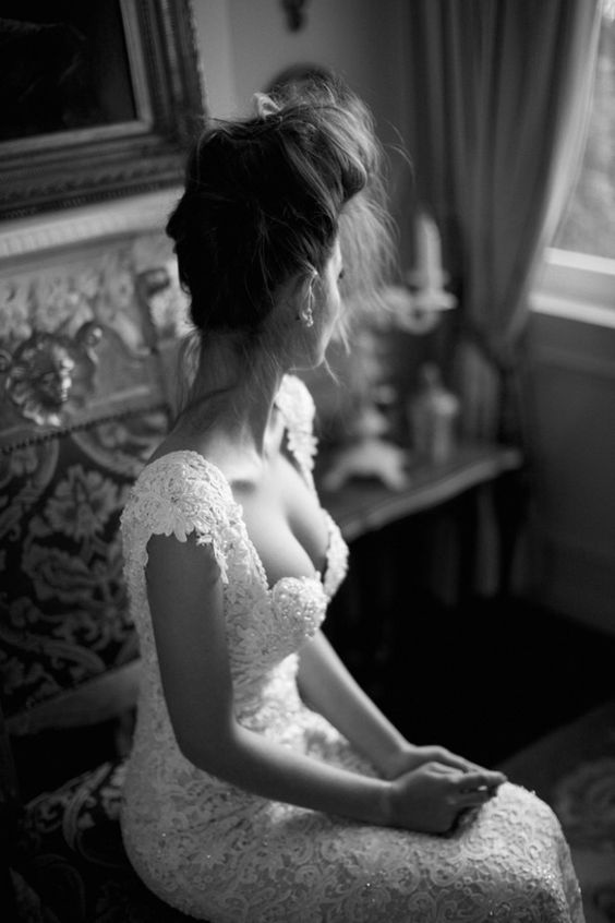 bustier lace wedding gown