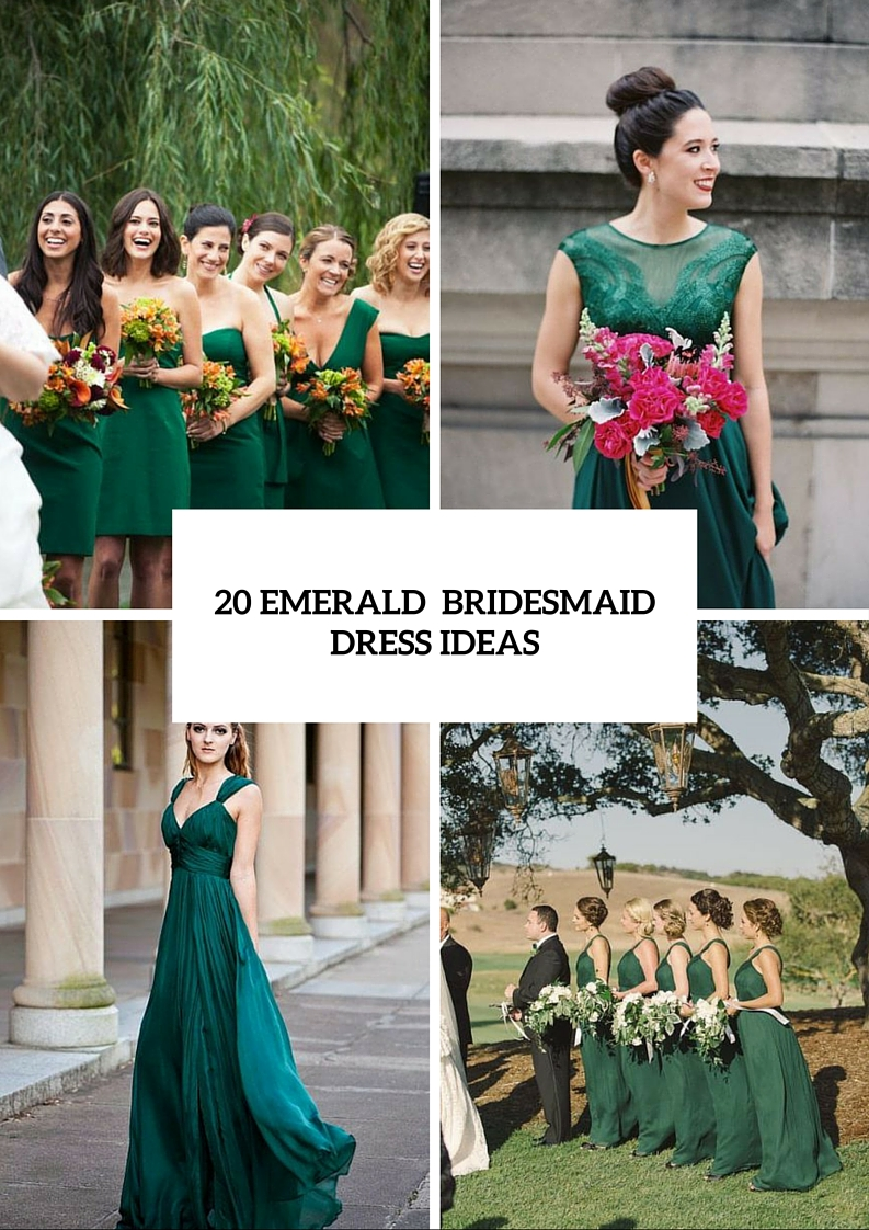 20 Chic Emerald Bridesmaid Dress Ideas For Fall Weddings