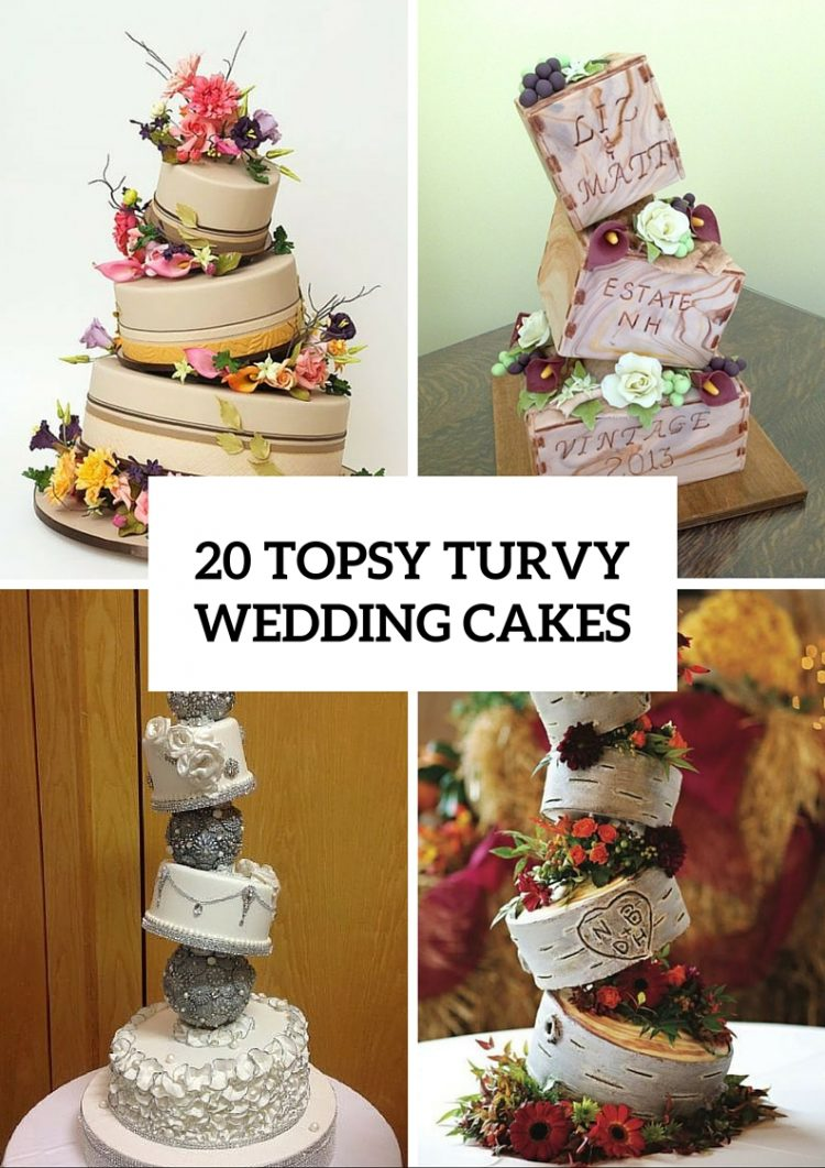 Unique wedding cakes archives weddingomania 20 creative topsy turvy wedding cake ideas junglespirit Gallery