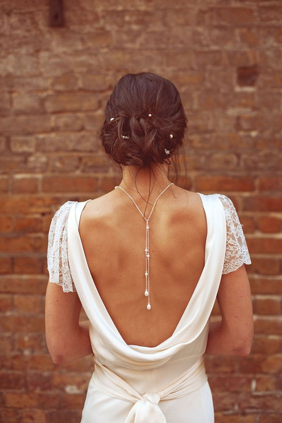 29 back wedding necklaces the hottest trend right now ForBack Necklace For Wedding Dress
