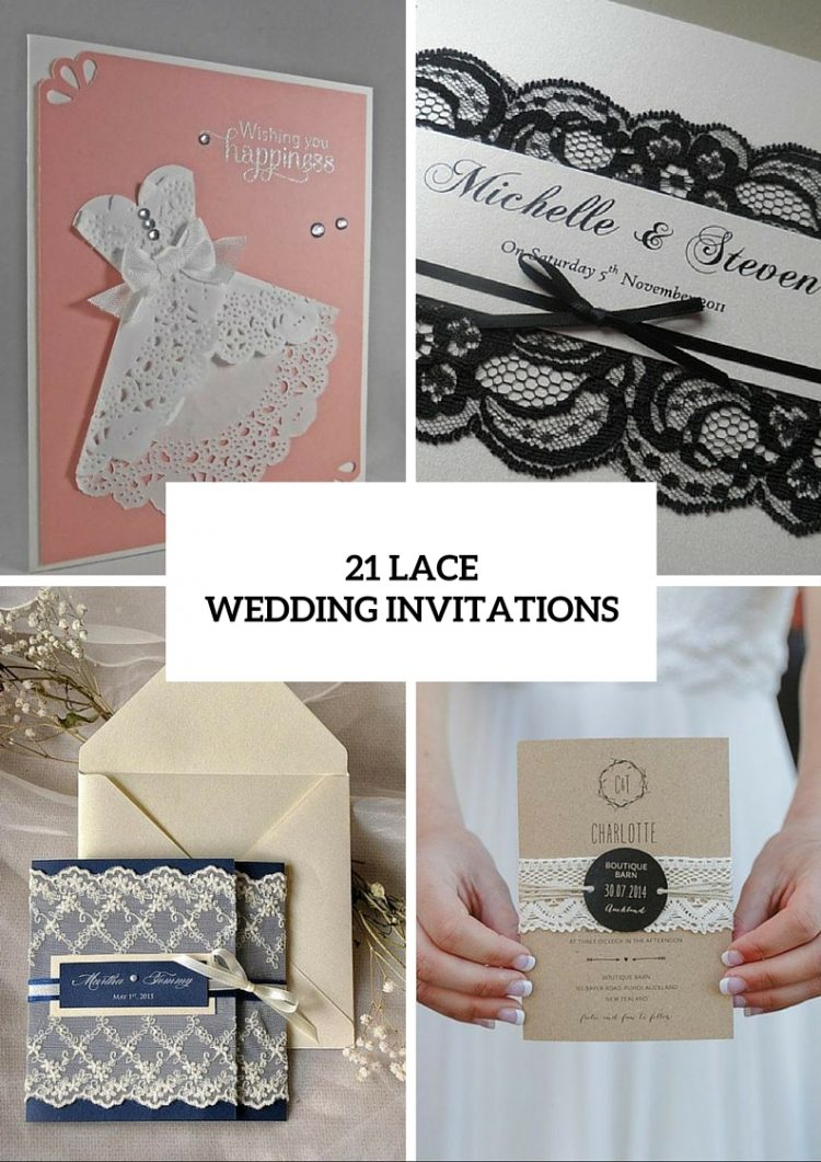21 Lace Wedding Invitation Ideas - Weddingomania