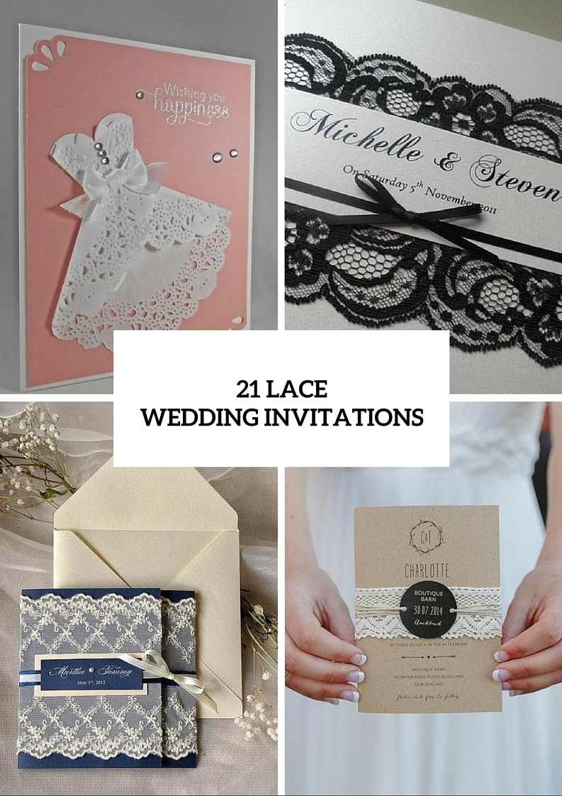 Lace Invitation Ideas For Your Big Day