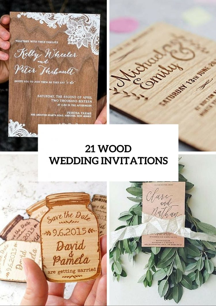 21 Original Wood Wedding Invitation Ideas - Weddingomania