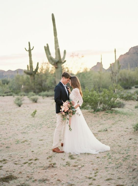 desert scape is ideal for wedding ceremonies