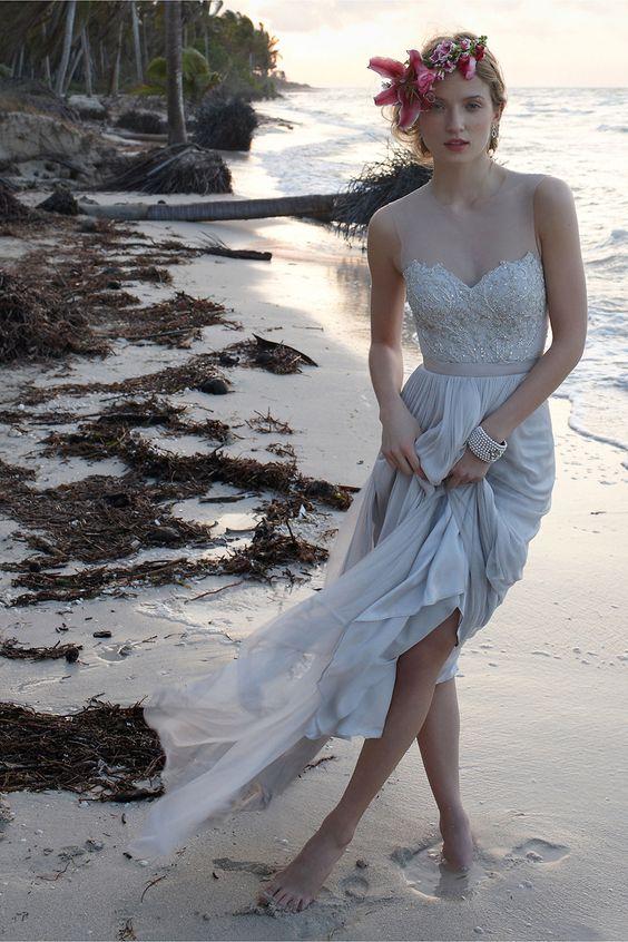 illusion tulle neckline dress