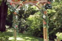 27 fall garden arch decorated with florals