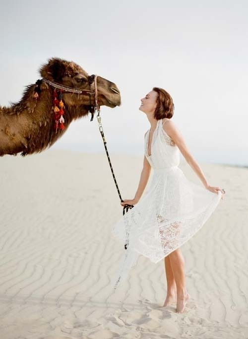 airy lace wedding dress for desert nuptials