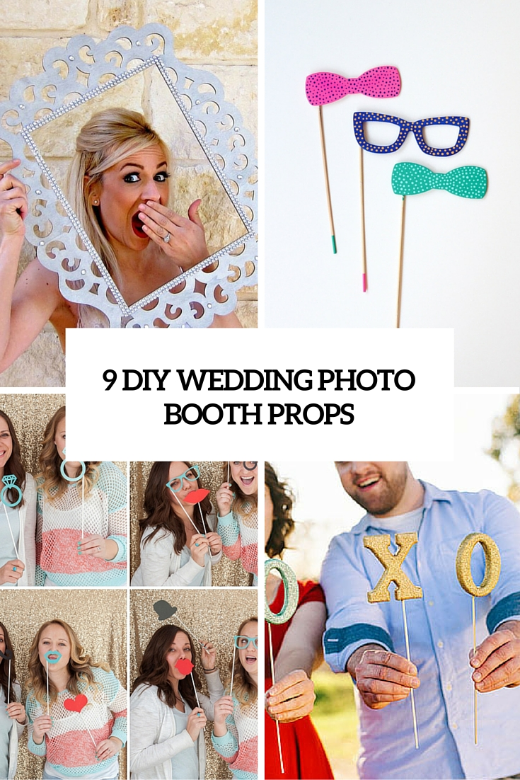 9 diy wedding photo booth props cover