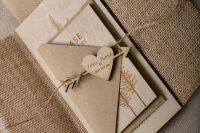 Adorable rustic wedding invitation
