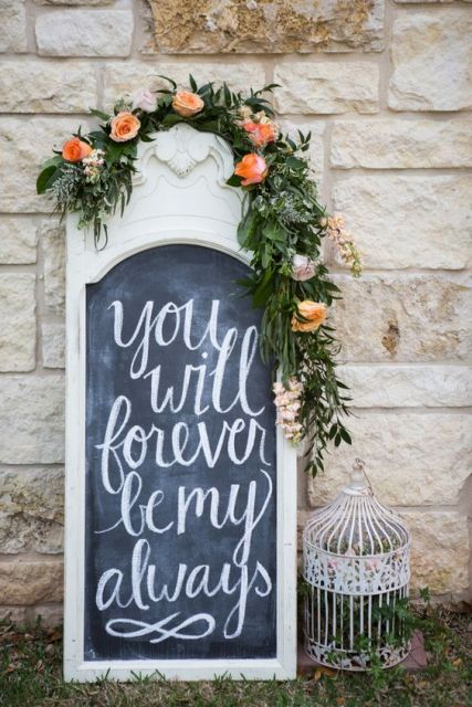 An addition to wedding sign