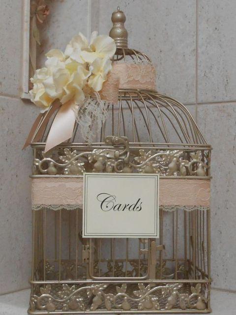 Birdcage card box alternative