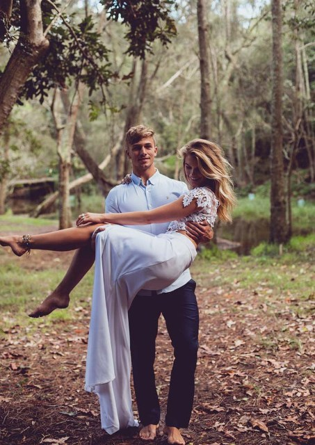 Boho Chic Bridal Fashion Editorial In The Woods