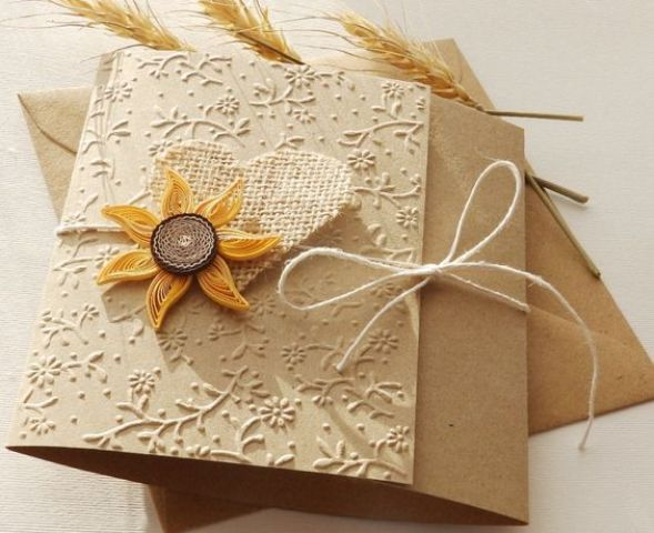 Cheap Sunflower Wedding Invitations: 22 Cute Burlap Wedding Invitation Ideas
