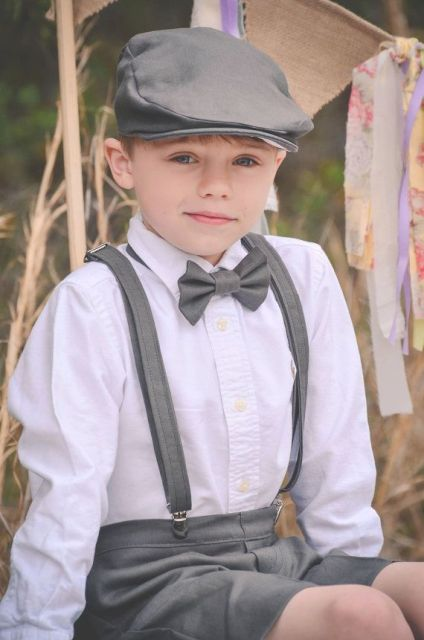 Cool ring bearer outfit with cap