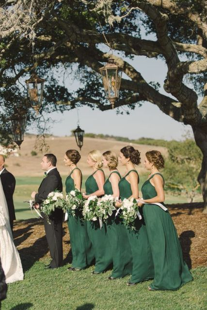 Emerald dresses for bridesmaids
