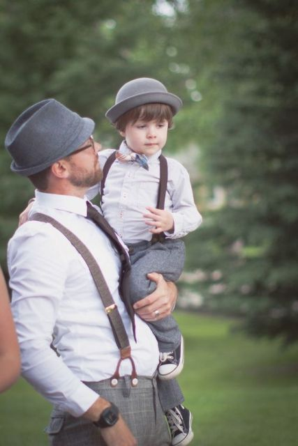 Fall wedding ring bearer outfit