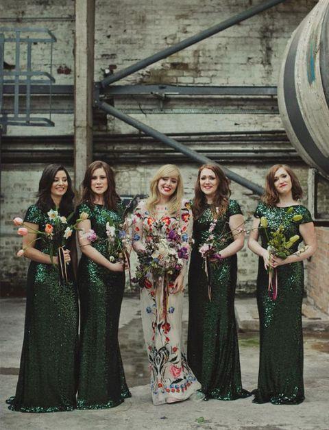4c690620d 20 Chic Emerald Bridesmaid Dress Ideas For Fall Weddings - Weddingomania