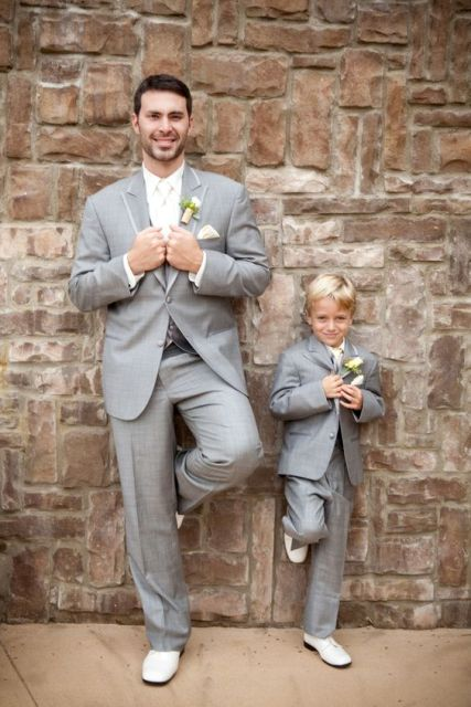Grey suit for ring bearer