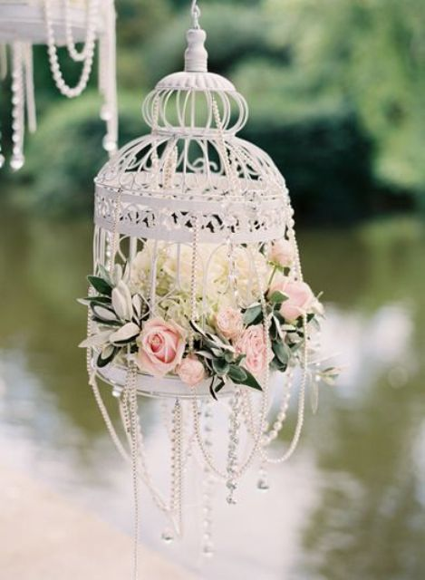 Hanging Birdcage Decor Details Nice Way To Add Roses Your Wedding
