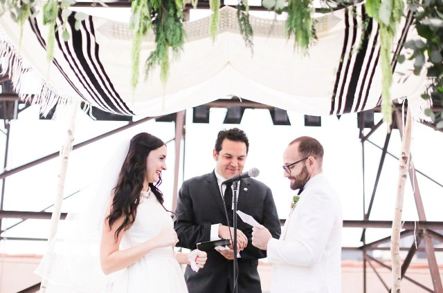 Modern And Chic Los Angeles Rooftop Wedding
