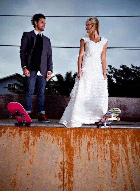 Photo session idea for those who love skateboards