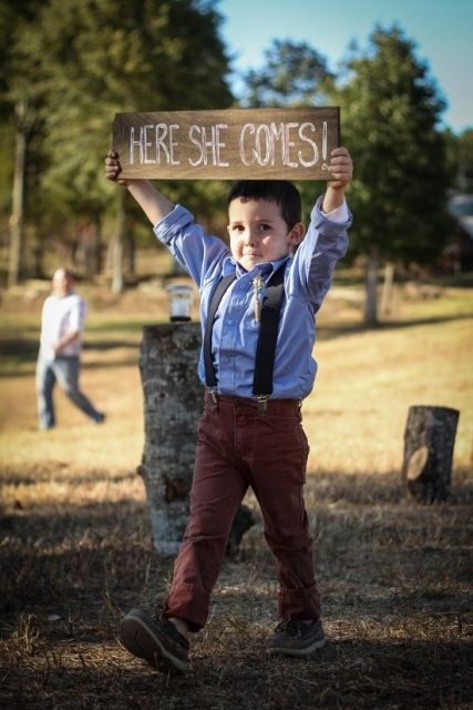 Ring bearer look for barn weddings