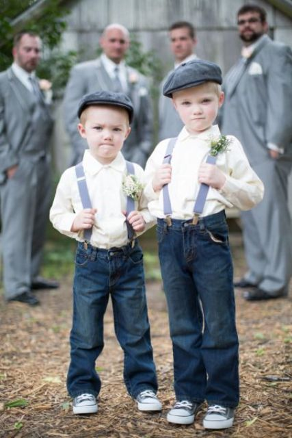 Ring bearer outfit for rustic weddings