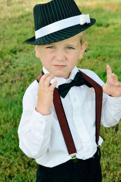 Ring bearer outfit for vintage styled weddings