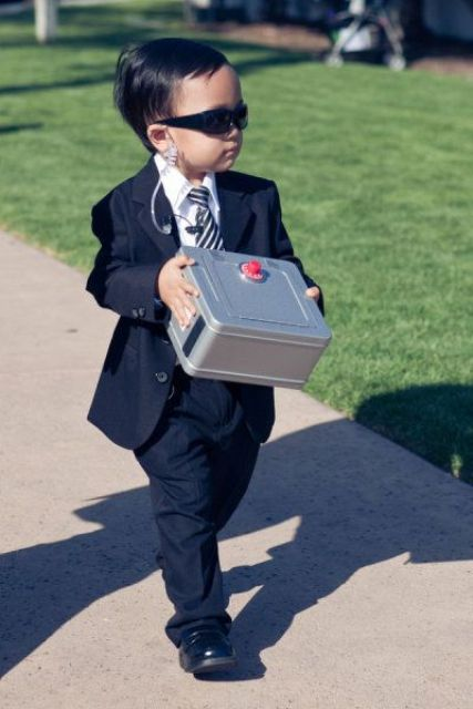 Security styled ring bearer outfit
