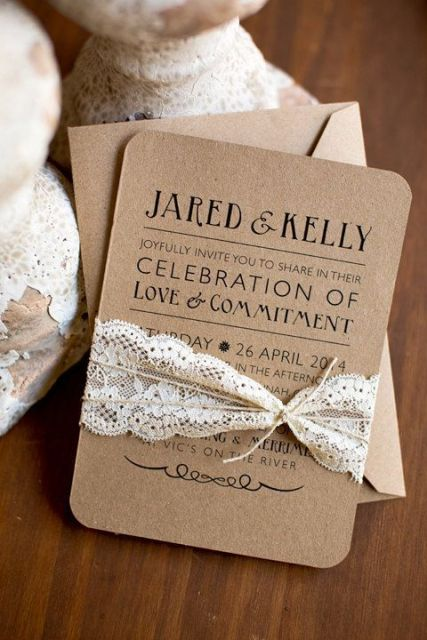 21 lace wedding invitation ideas - weddingomania, Wedding invitations