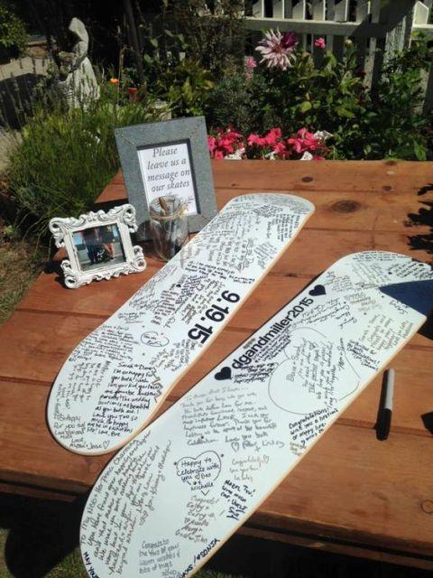 Skateboard guest book alternative
