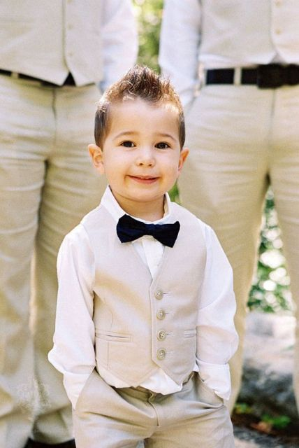 Stylish ring bearer outfit